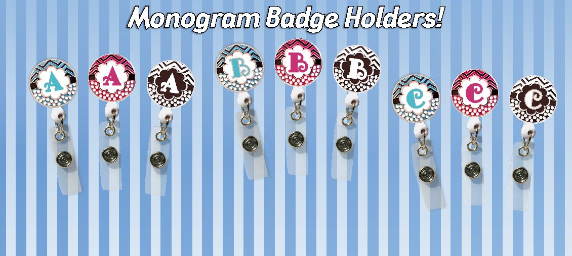 Monogram Badge Holders