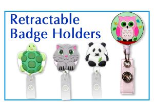3D Rubber Retractable Badge Holders