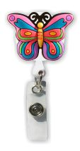 Retractable Badge Holder with Rubber Butterfly