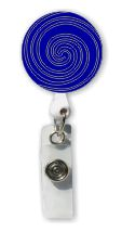 Retractable Badge Holder with Rubber Swirl