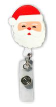 Retractable Badge Holder with Santa