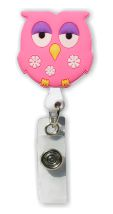 Retractable Badge Holder with Owl