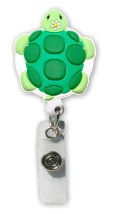 Retractable Badge Holder with Turtle