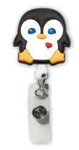 Retractable Badge Holder with Penguin