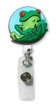 Retractable Badge Holder with Frog