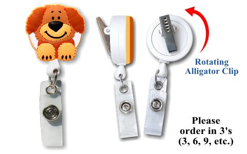Retractable Badge Holder with Dog