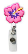Hibiscus Badge Holder