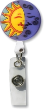 Retractable Badge Holder with Sun Moon