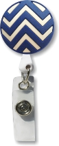 Retractable Badge Holder with Blue Chevron