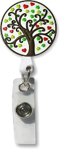 Retractable Badge Holder with Tree of Life
