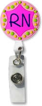 Retractable Badge Holder with RN