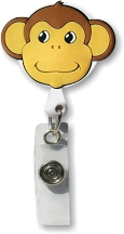 Retractable Badge Holder with Monkey