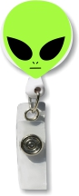 Retractable Badge Holder with Alien