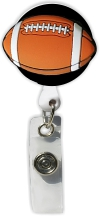 Retractable Badge Holder with Football