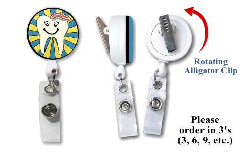 Retractable Badge Holder with Tooth