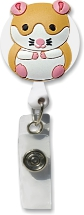 Retractable Badge Holder with Hamster
