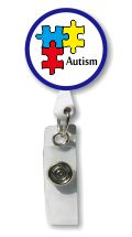 Autism Support Retractable Badge Holder