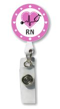RN Retractable Badge Holder