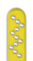 Glass Nail File: Zig Zag Rhinestones on Yellow