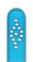 Glass Nail File: Diamond Pattern on Blue