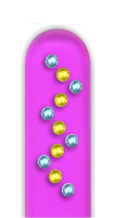 Glass Nail File: Zig Zag Rhinestones on Pink