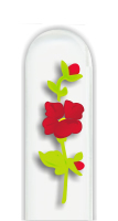 Glass Nail File: Big Red Flower