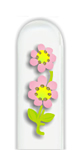 Glass Nail File: Double Pink Flower