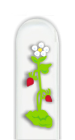 Glass Nail File: Two Red Flowers
