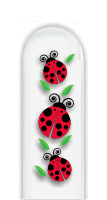 Glass Nail File: Ladybugs