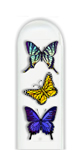 Glass Nail File: Butterfly