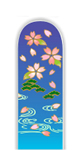 Glass Nail File: Flowers