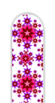 Glass Nail File: Red Paisley Stars
