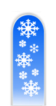 Glass Nail File: Snowflakes