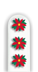 Glass Nail File: Poinsettias