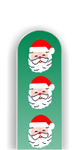 Glass Nail File: Santa