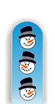 Glass Nail File: Snowman Faces