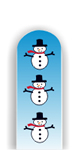 Glass Nail File: Snowmen