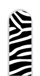 Glass Nail File: Zebra Print