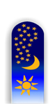 Glass Nail File: Moon Stars Sun