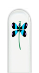 Glass Nail File: Dragonfly