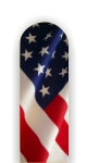 Glass Nail File: Flag