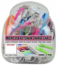 Micro USB Keychain Charge Cable for Android Devices