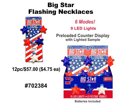 Big Star Flashing Necklaces