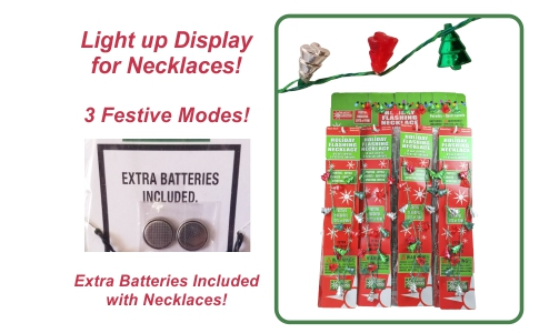 Christmas Tree Flashing Necklaces