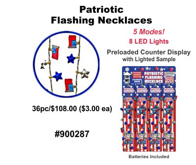 Patriotic Flashling Necklaces