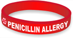 Silicone Medical Alert: Penicillin Allergy