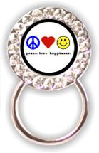 Eyeglass Holder: Peace Love Happiness
