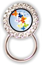 Rhinestone Eyeglass Holder: Butterflies