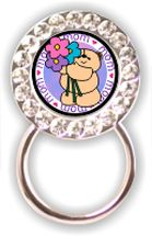 Rhinestone Eyeglass Holder: Mom with Bear