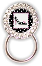 Rhinestone Eyeglass Holder: Shoe
